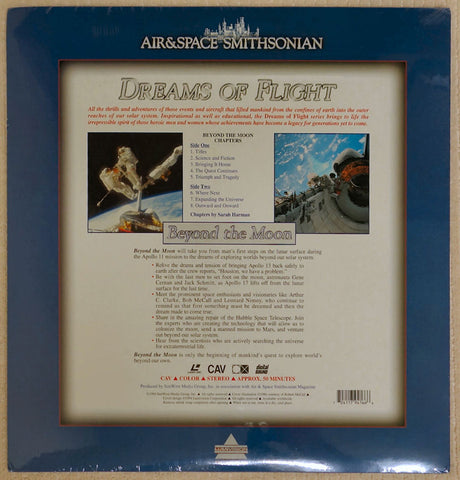 Dreams of Flight Series: Beyond The Moon - Laserdisc - Back Cover