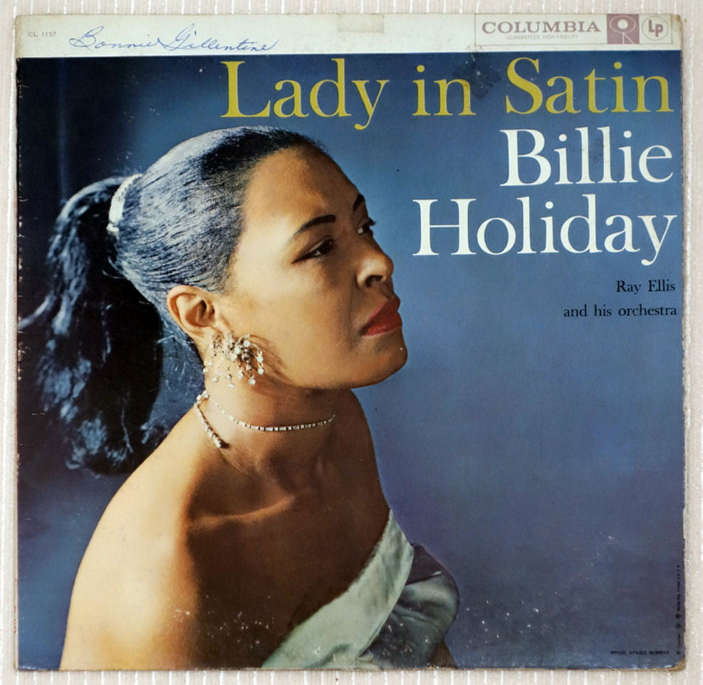 Billie Holiday With Ray Ellis And His Orchestra ‎Lady In Satin Vinyl Record Front Cover