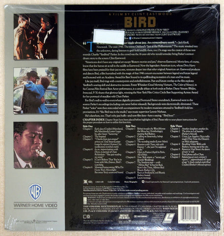 Bird - Laserdisc - Back Cover
