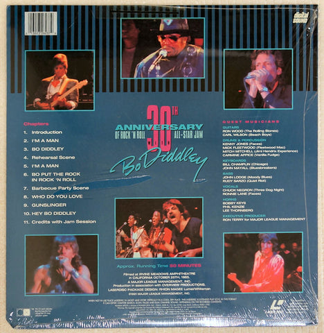 Bo Diddley 30th Anniversary Rock N Roll - Laserdisc - Back Cover