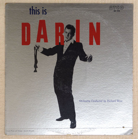Bobby Darin This Is Darin vinyl record front cover.