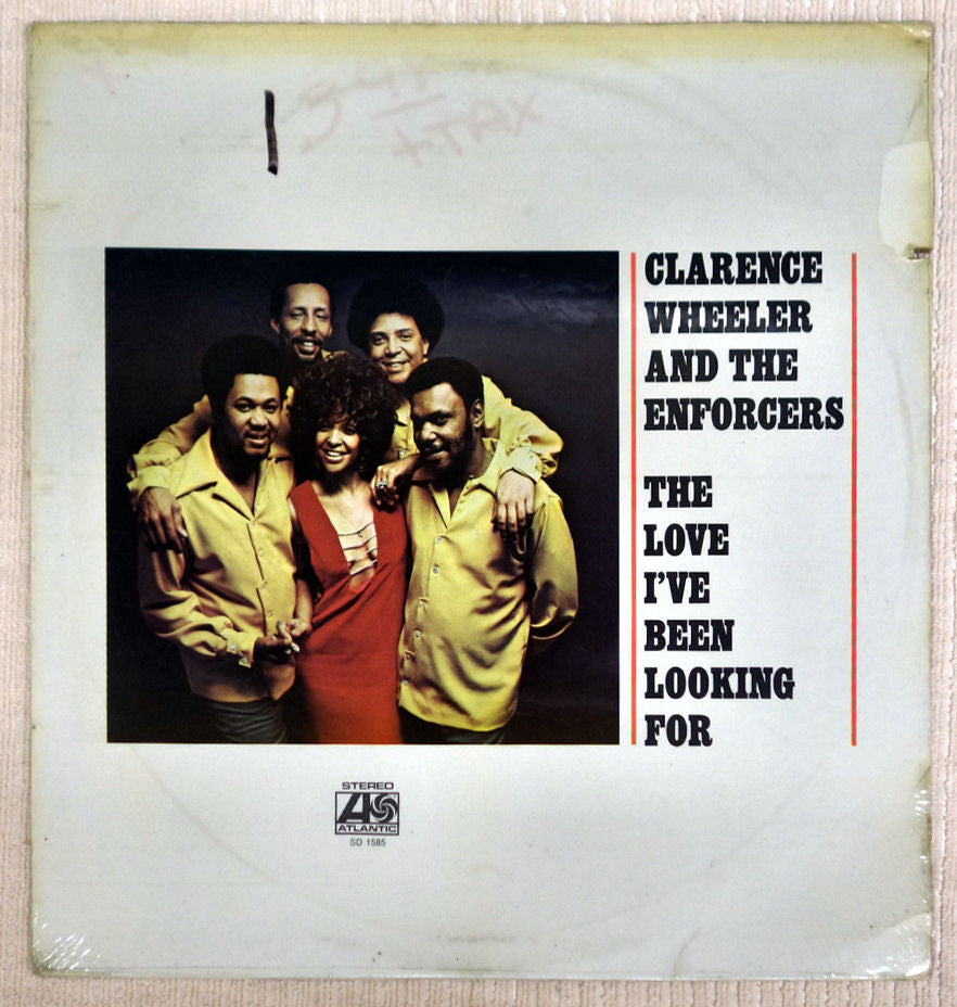 Front album cover for Clarence Wheeler vinyl record The Love I've Been Looking For