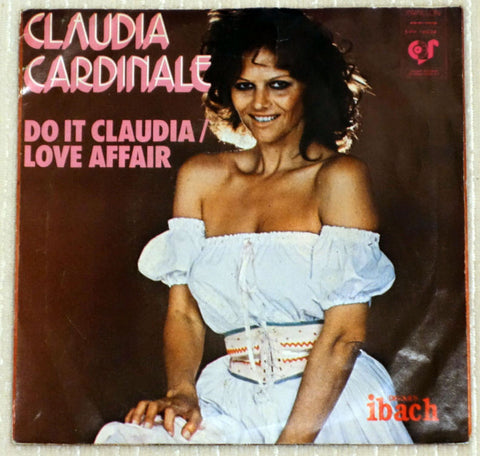 Claudia Cardinale ‎– Do It Claudia - Love Affair - Back Cover - Vinyl Record