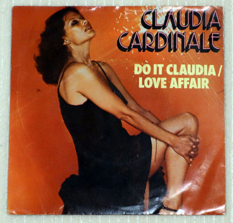 Claudia Cardinale ‎– Do It Claudia / Love Affair (1977) Mexico Press, Clear Vinyl