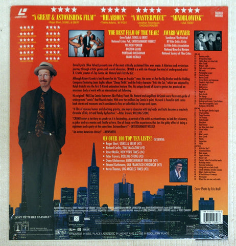 Crumb 1994 documentary on laserdisc back cover.