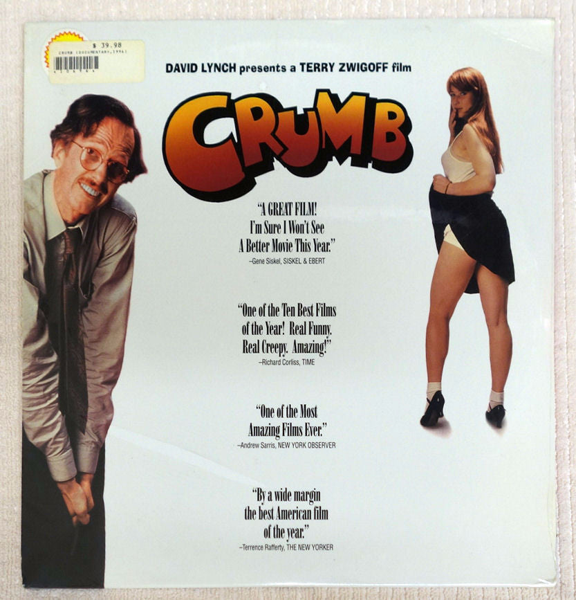 Crumb 1994 documentary on laserdisc front cover.