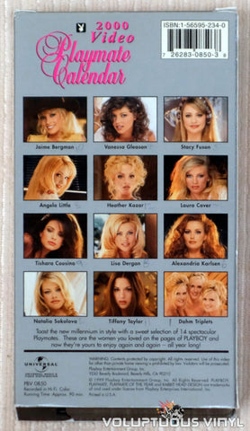 Playboy Video Playmate Calendar 2000 - VHS Tape - Back Cover