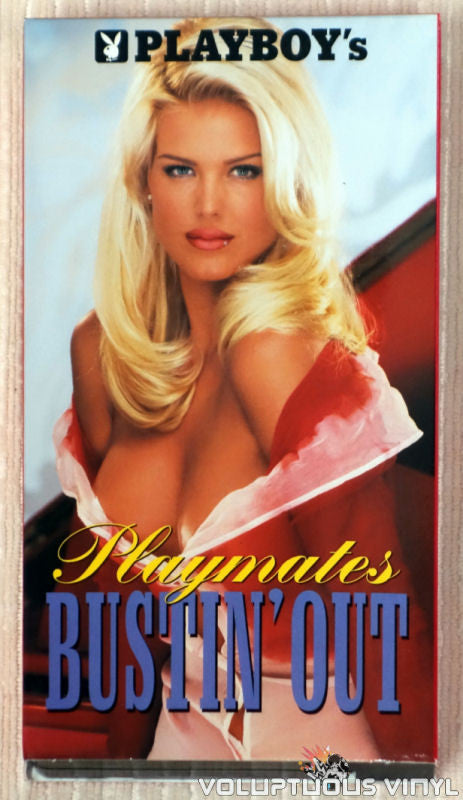 Playboy's Playmates Bustin' Out - VHS Tape - Front Cover