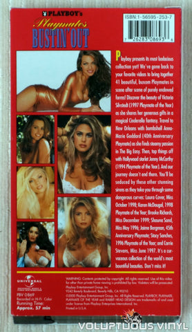 Playboy's Playmates Bustin' Out - VHS Tape - Back Cover