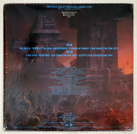 Dio ‎– The Last In Line - Back Cover - Vinyl Record