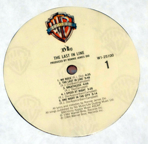 Dio ‎– The Last In Line - Label - Vinyl Record