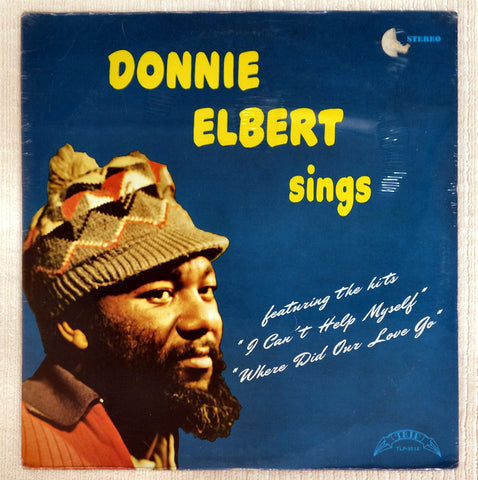 Front album cover to Donnie Elbert vinyl record Sings.