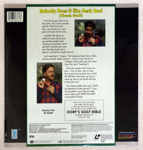 Dorf On Golf Laserdisc - Back Cover