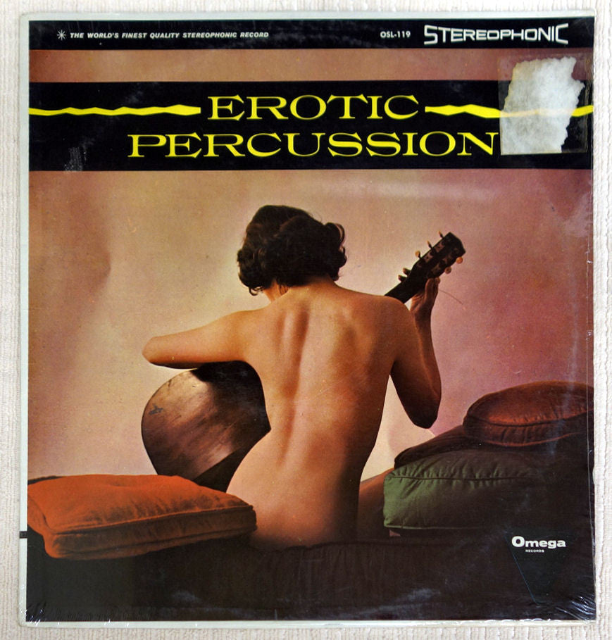 Front album cover to Erotic Percussion.