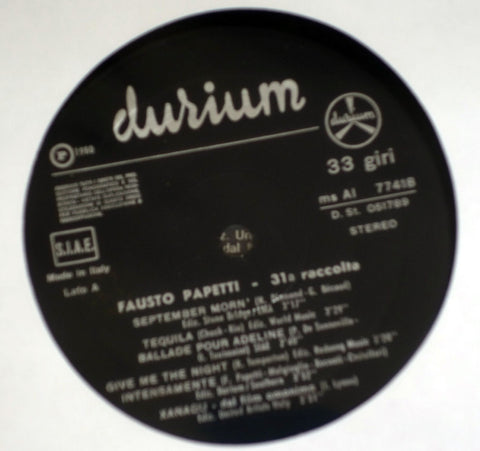 Fausto Papetti - 31a Collection - Vinyl Record - Label