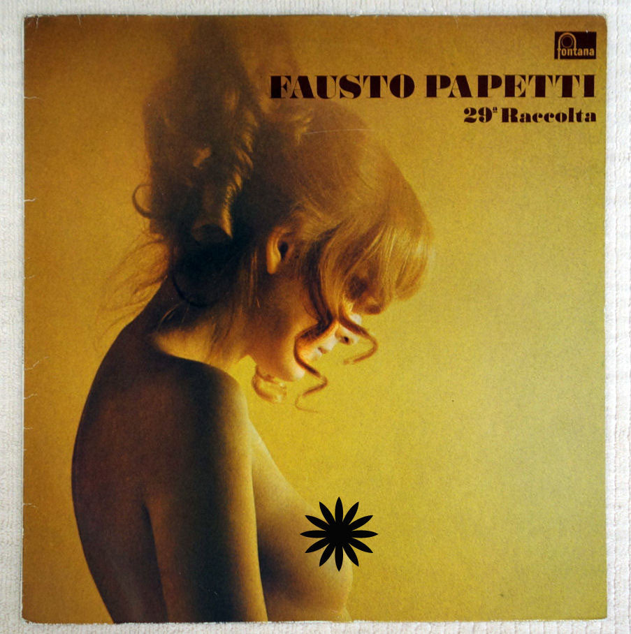 Fausto Papetti ‎– 29a Raccolta - Vinyl Record - Front Cover Censored Topless Woman