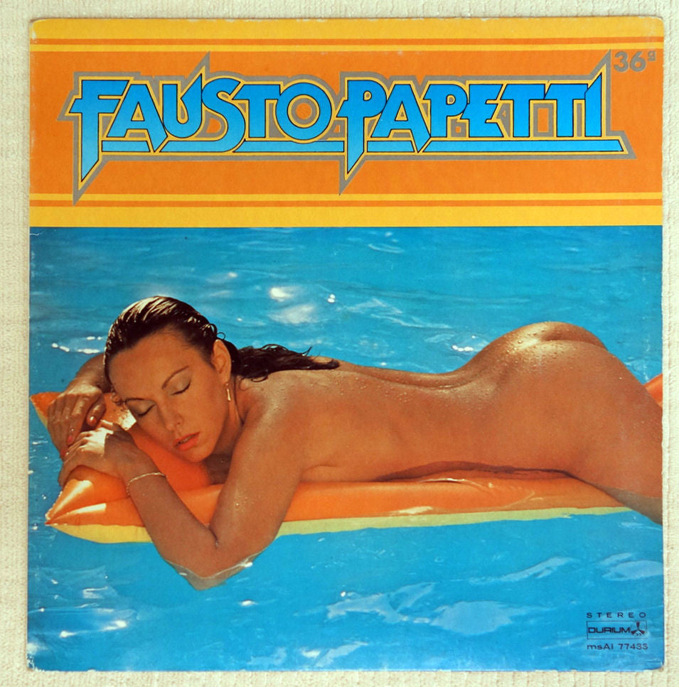 Fausto Papetti ‎– 36a Raccolta - Vinyl Record - Front Cover Cheescake with nude woman floating in pool.