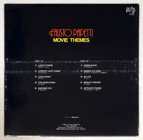 Fausto Papetti ‎– Movie Themes - Back Cover - Vinyl Record