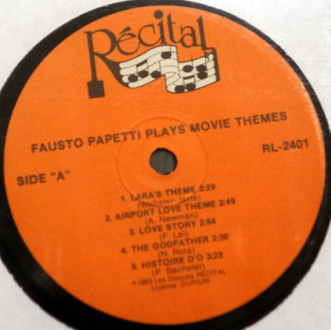 Fausto Papetti ‎– Movie Themes - Label - Vinyl Record