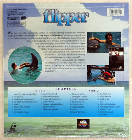 Flipper - Laserdisc - Back Cover