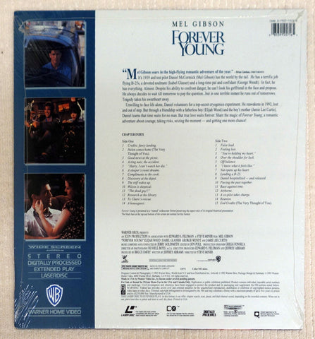 Forever Young laserdisc back cover.