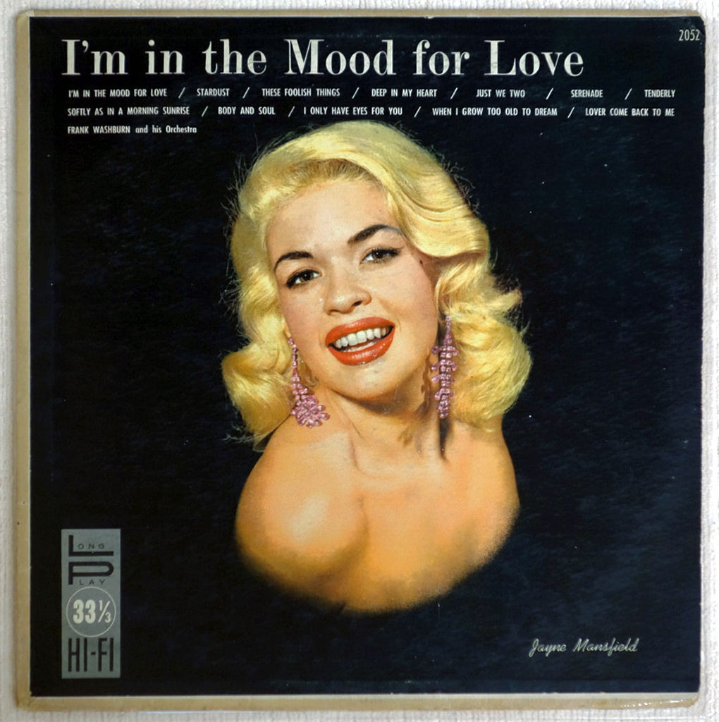 Jayne Mansfield cheesecake cover for I'm In The Mood For Love vinyl record.