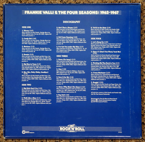 Frankie Valli & The Four Seasons 1962-1967 - Back Cover - Vinyl Record Boxset