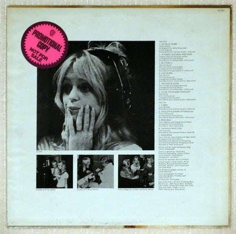 Goldie Hawn ‎– Goldie - Back Cover - Vinyl Record