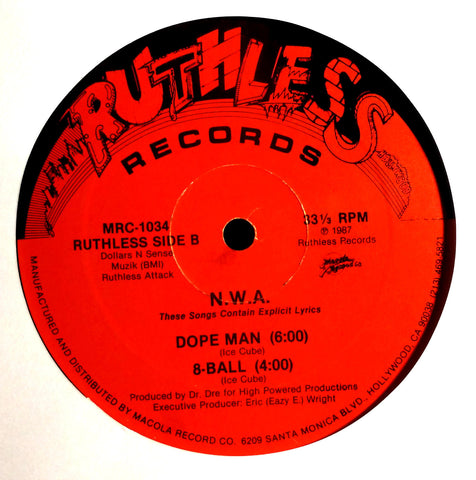 NWA Panic Zone EP Ruthless Records Side B