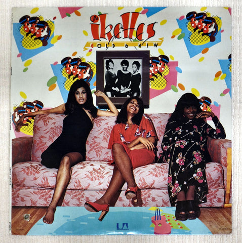 Front album cover to The Ikettes vinyl record (G)old & New.