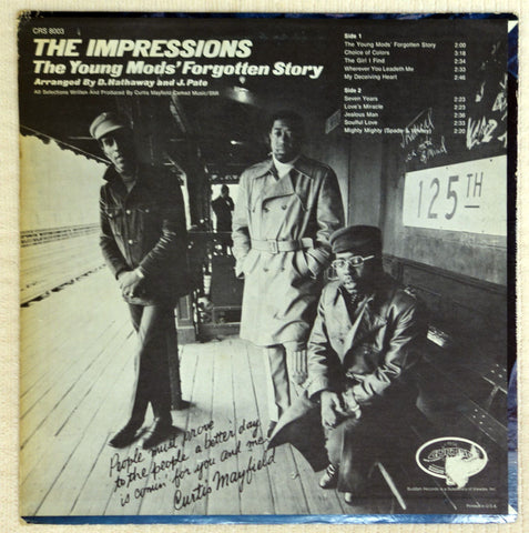 Impressions ‎– The Young Mods Forgotten Story - Vinyl Record - Back Cover