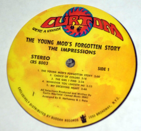 Impressions ‎– The Young Mods Forgotten Story - Vinyl Record - Label