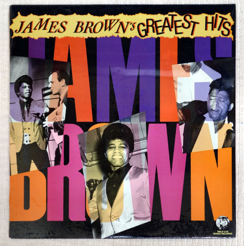 Front album cover for James Brown Greatest Hits vinyl record.