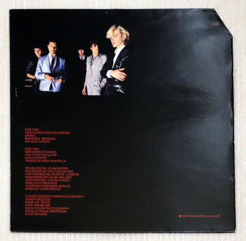 Japan ‎– Gentlemen Take Polaroids - Back Cover - Vinyl Record UK Pressing