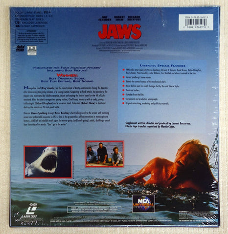 Jaws Signature Collection laserdisc box set back cover.