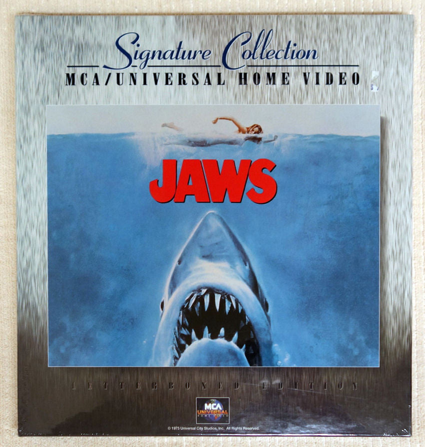 Jaws Signature Collection laserdisc box set front cover.