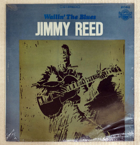 Front album cover to Jimmy Reed vinyl record Wailin' The Blues.