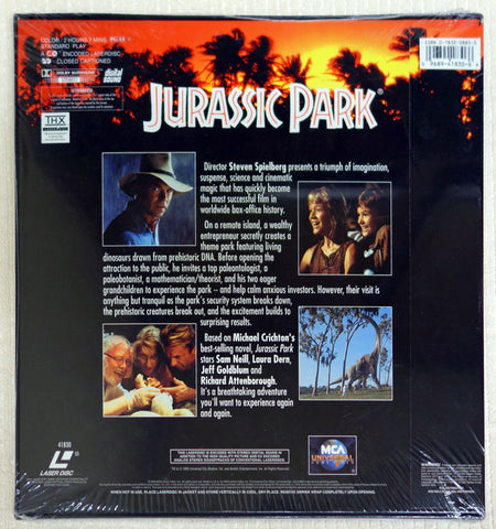 Jurassic Park laserdisc box set back cover