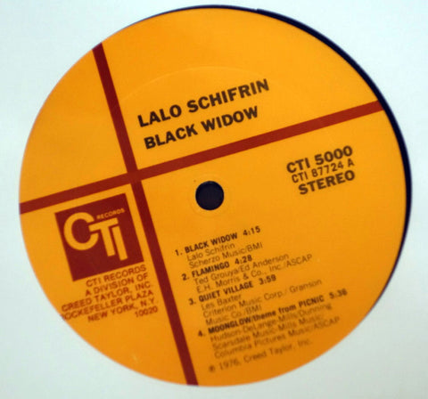 Lalo Schifrin ‎– Black Widow - Vinyl Record - Label