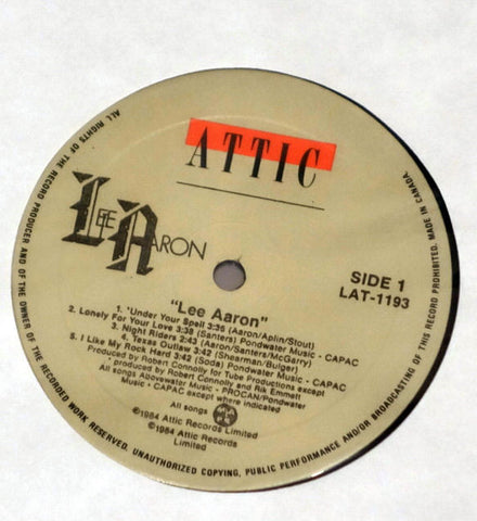 Lee Aaron ‎– Lee Aaron - Label - Vinyl Record