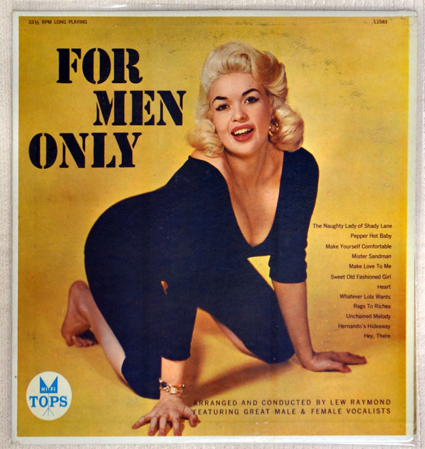 Jayne Mansfield cheesecake cover For Men Only vinyl record by Lew Raymond