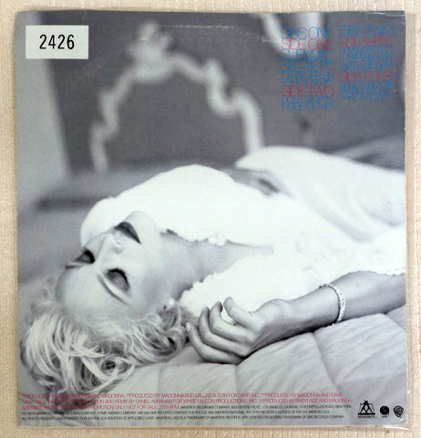 Madonna Bedtime Stories Limited Edition Promo Pink Vinyl Record 1994 - Back Cover
