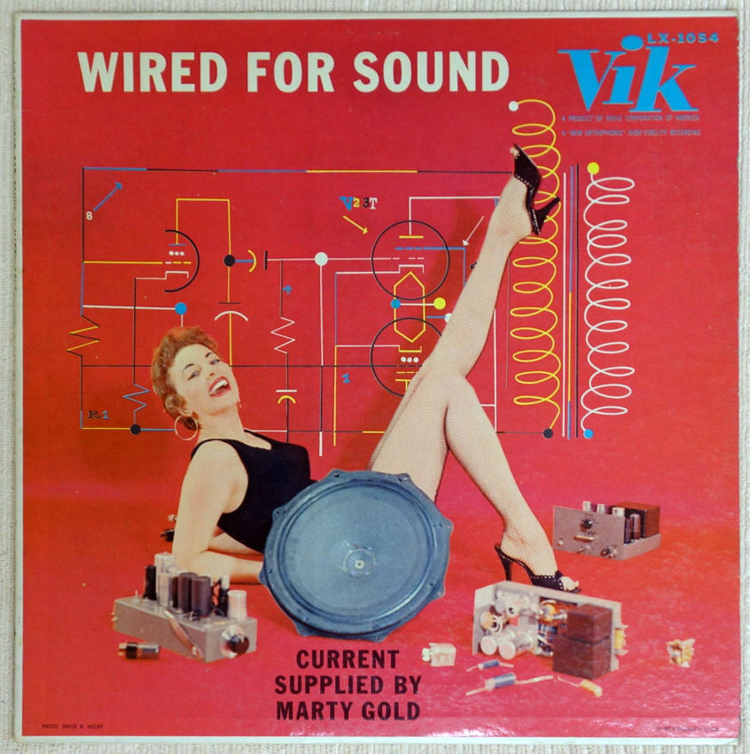 Marty Gold ‎– Wired For Sound - Front Cover - Vinyl Record