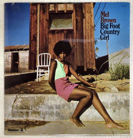 Front album cover to Mel Brown vinyl record Big Foot Country Girl.