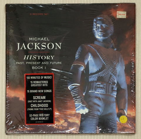 Michael Jackson  HIStory Past, Present And Future Book I Vinyl Front Cover