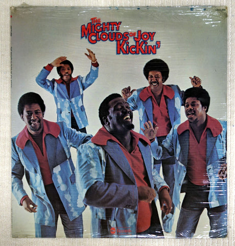 Front album cover to Mighty Clouds Of Joy vinyl record Kickin'.