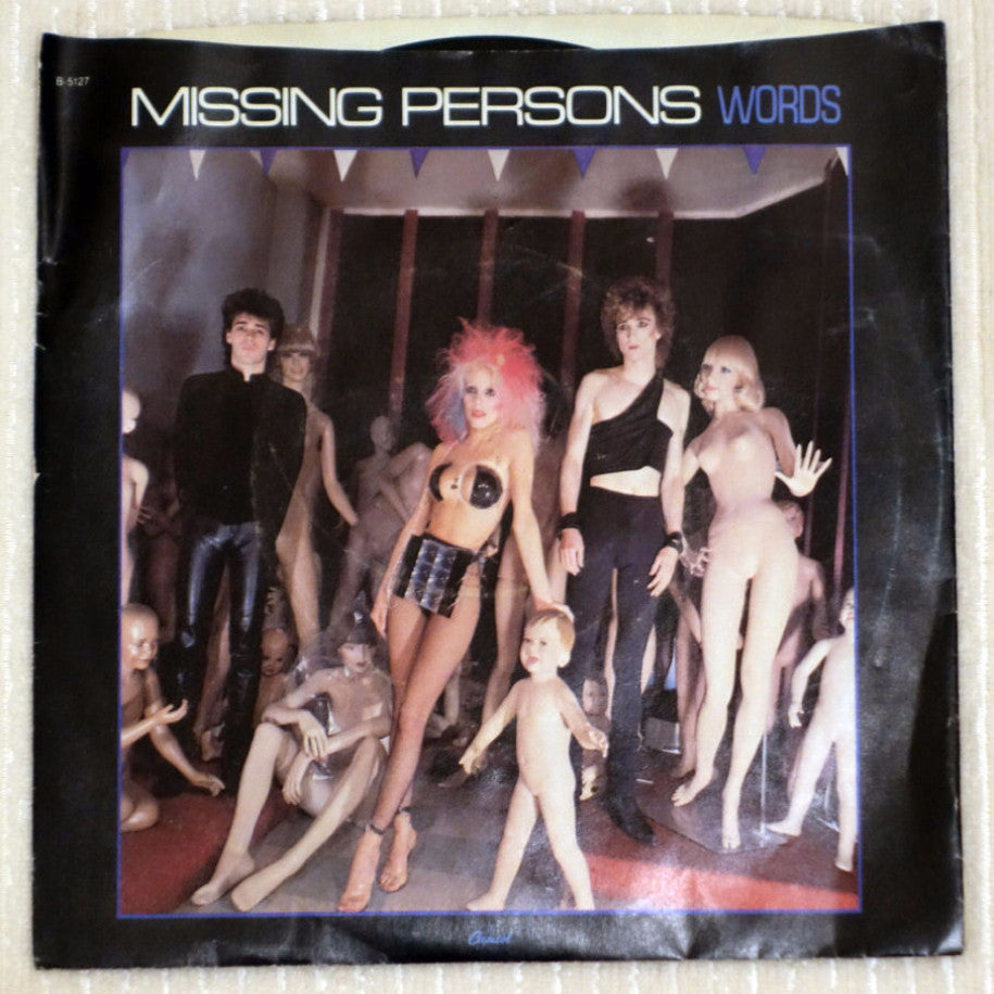 Missing Persons ‎– Words - Front Cover - Vinyl
