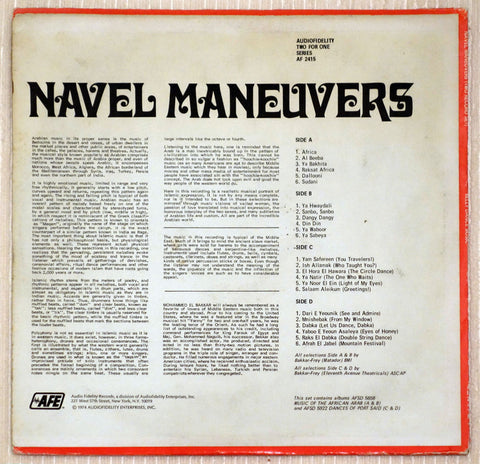 Mohammed El-Bakkar ‎– Navel Maneuvers - Back Cover - Vinyl Record