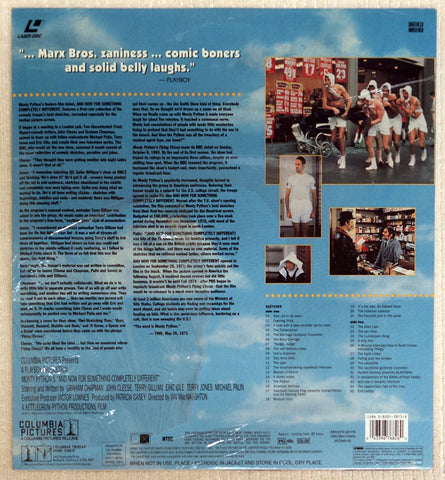 Monty Python's And Now For Something Completely Different - Laserdisc - Back Cover