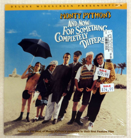Monty Python's And Now For Something Completely Different - Laserdisc - Front Cover